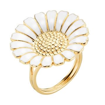 Forgyldt Marguerit ring