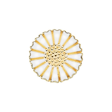 Forgyldt Marguerit broche