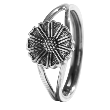 Marguerit ring i Sølv - 9,5 mm