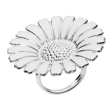 Marguerit ring i Sølv - 36 mm