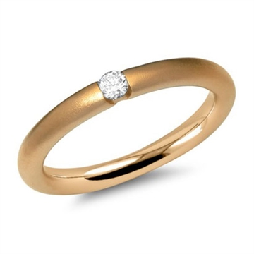 Ring 14 kt. guld m. diamant