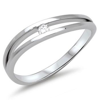 hvid guld ring