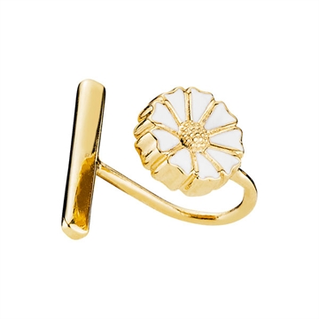 Forgyldt Marguerit ear cuff