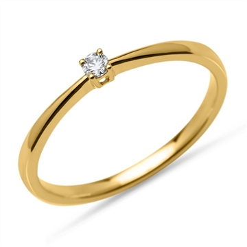 Solitaire ring i Guld