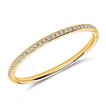 Alliancering i 18 kt. Guld med Diamanter - 0,08 ct.