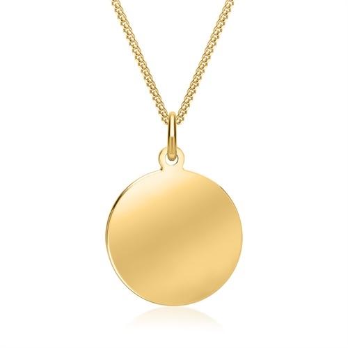 1d5120a4289 Rundt vedhæng i Guld med gravering