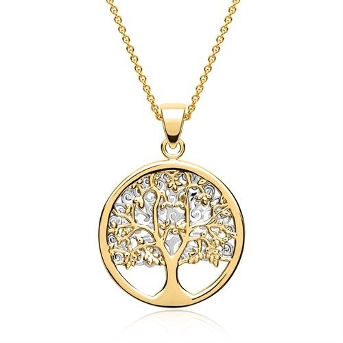 7157f76ea28 Vedhæng i Guld & Hvidguld med Livets Træ
