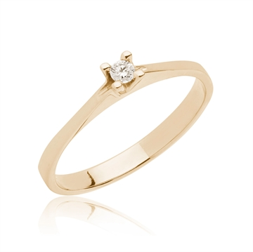 BARTOLI Endless solitairering i 14 kt. Guld - 0,05 ct