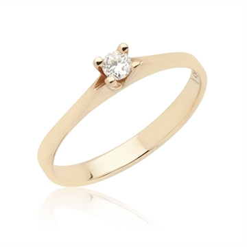 BARTOLI Endless Solitairering i 14 kt. Guld - 0,10 ct.