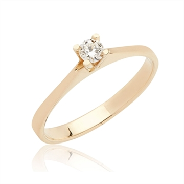 BARTOLI Endless Solitairering i 14 kt. Guld med Diamant - 0,15 ct.