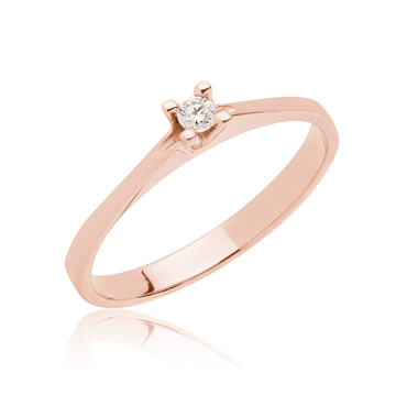 BARTOLI Endless Solitairering - 0,05 ct