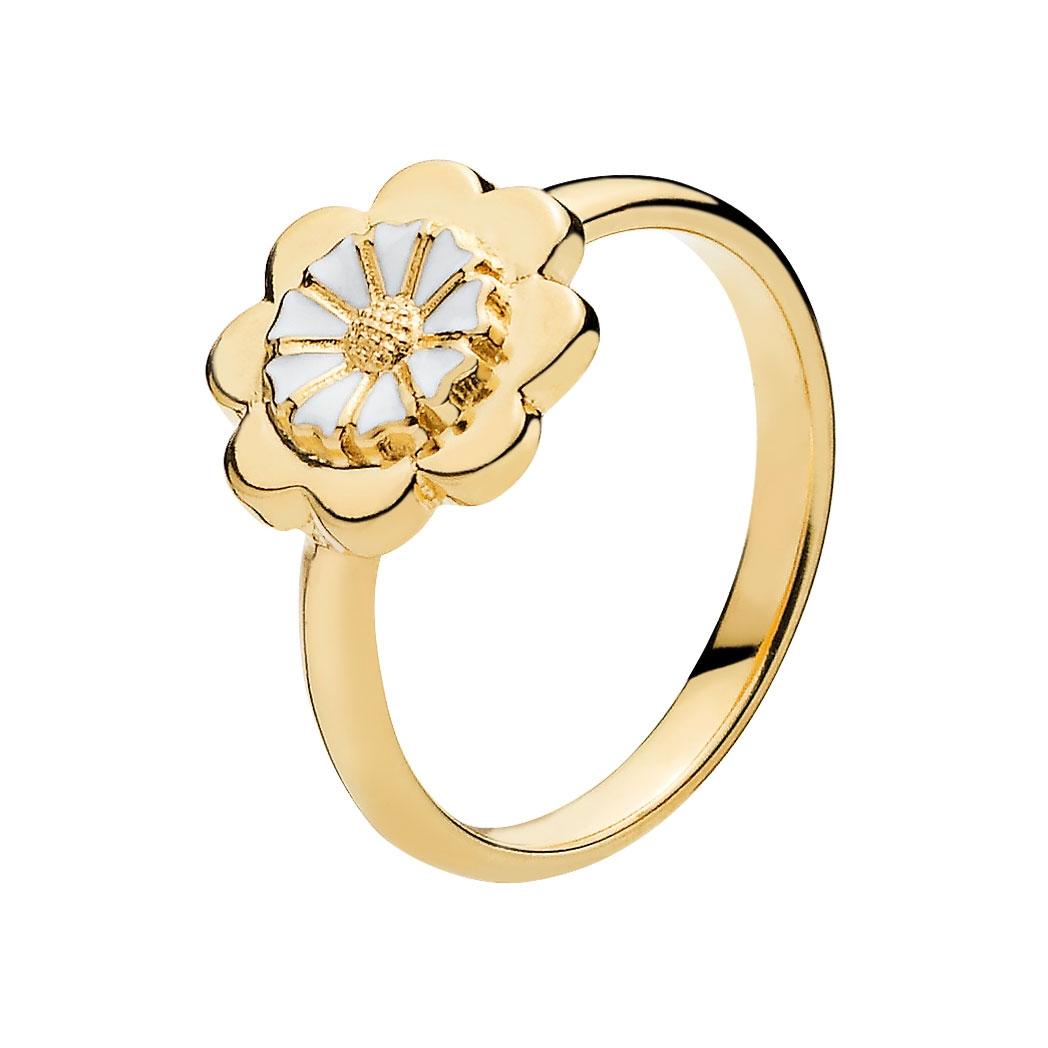 1f0c74193ae Forgyldt Marguerit Ring i Sølv