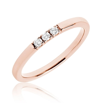 BARTOLI Alliancering i 14 kt. Rosaguld - 0,09 ct.