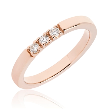 BARTOLI Alliancering i 14 kt. Rosaguld - 0,15 ct.