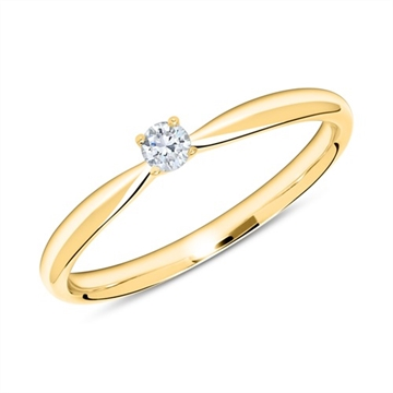 BARTOLI Endless - Solitairering 14 kt. Guld med Diamant - 0,10 ct.