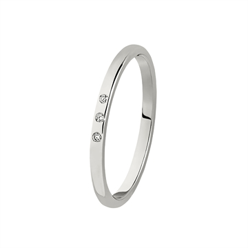 BARTOLI Colibri enkel vielsesring i Hvidguld med Diamanter -1,5 mm Diamanter - 1,5 mm