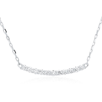 Collier i 14 kt. Hvidguld med Diamanter - 0,23 ct